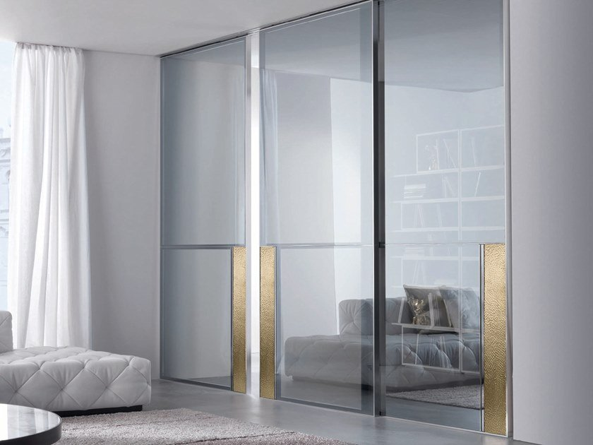 Glass sliding door IANUS | Sliding door by Longhi
