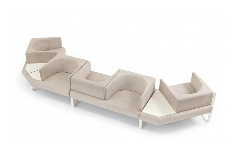5 seater sectional fabric sofa IANUS | Sofa by Felicerossi
