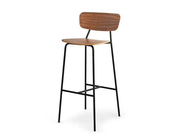 High multi-layer wood stool IBETTA | Stool by SCULPTURES JEUX