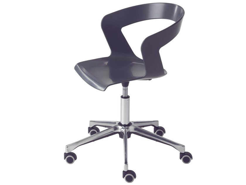 Swivel task chair with 5-Spoke base Ibis 002-DR by Metalmobil