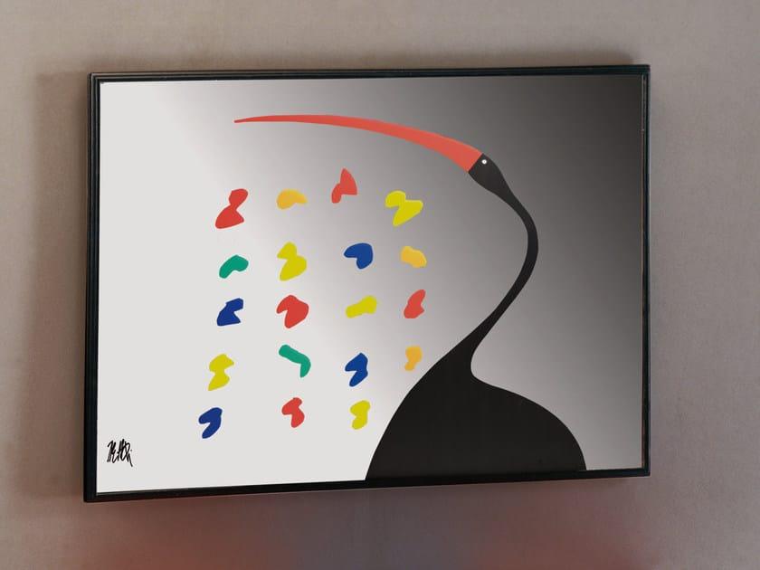 Rectangular wall-mounted plexiglass mirror IBIS by Mirabili
