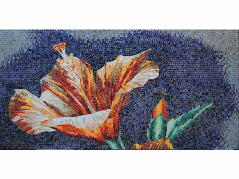 Stained glass mosaic IBISCUS A by FRIUL MOSAIC