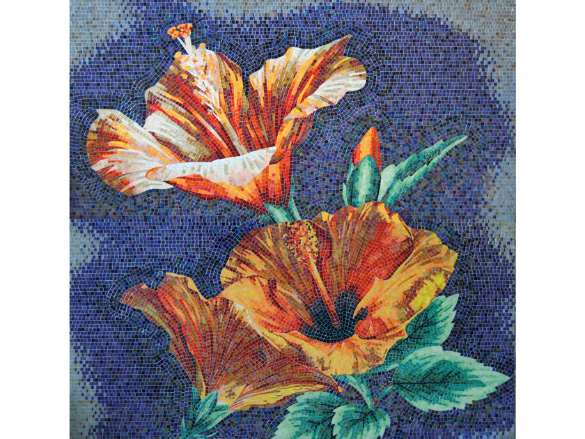 Stained glass mosaic IBISCUS by FRIUL MOSAIC
