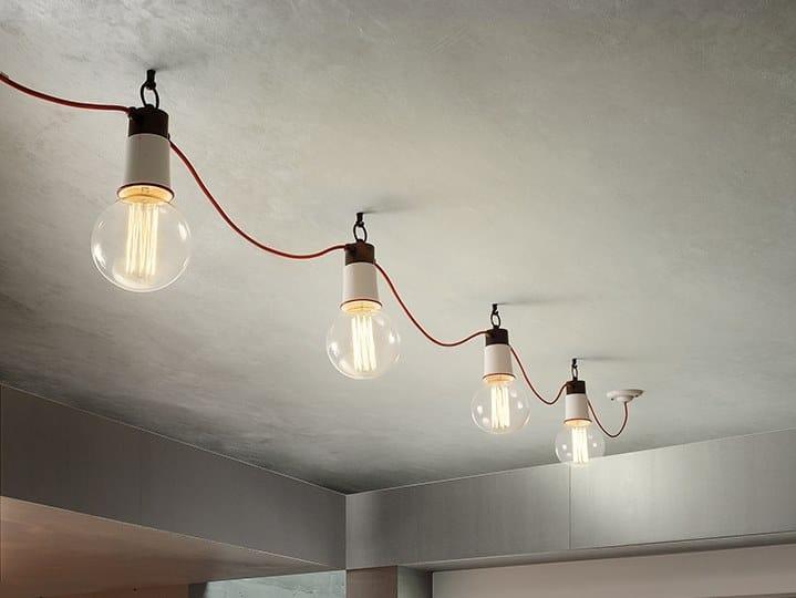 Modular metal ceiling lamp IBRID SYSTEM by Aldo Bernardi