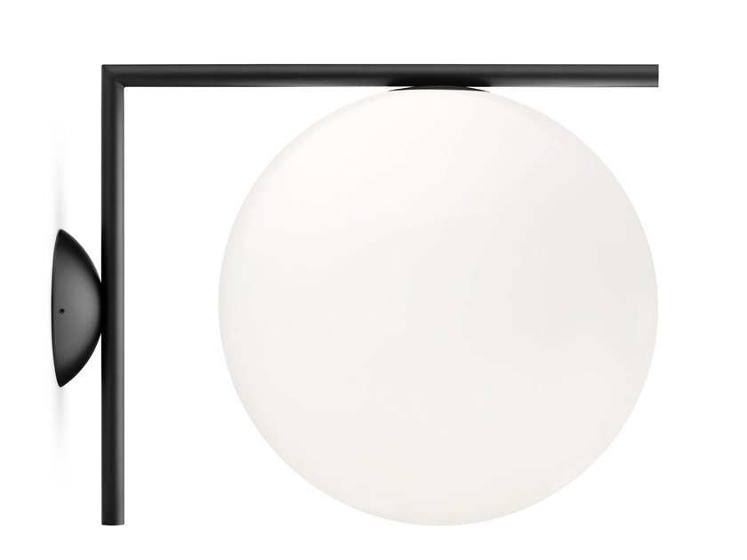 Wall lamp FLOS - IC LIGHTS CW2 Black by Archiproducts.com