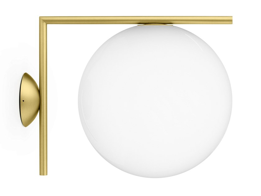 Wall lamp FLOS - IC LIGHTS CW2 Brass by Archiproducts.com