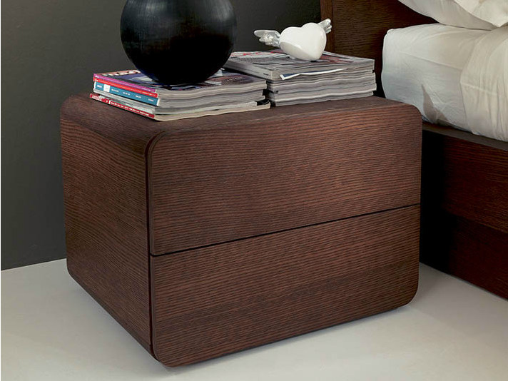 Square wooden bedside table ICARO   Bedside table by Fimar