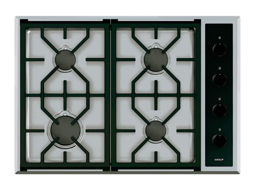 Piano cottura a gas da incasso in acciaio inox ICBCG304T/S TRANSITIONAL   Piano cottura by Sub-Zero