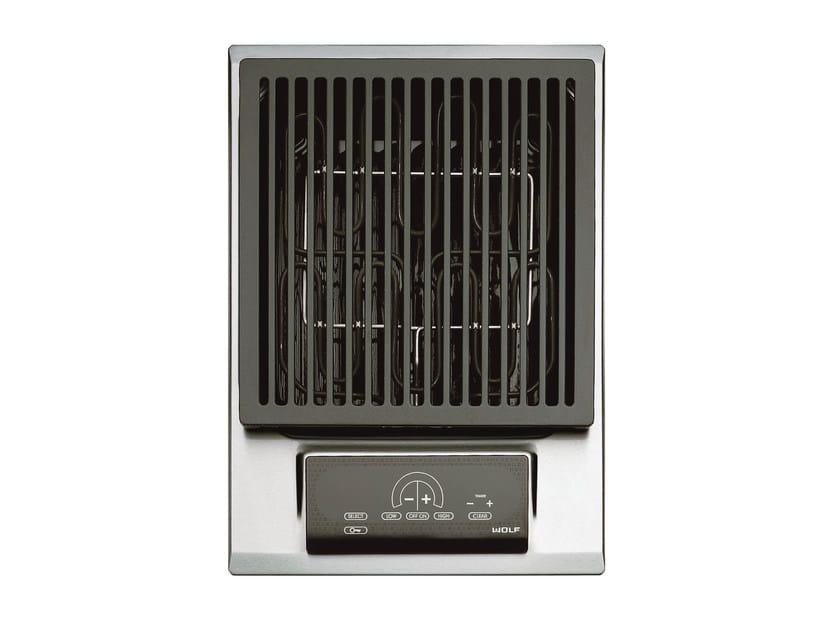 Piano cottura da incasso elettrico in acciaio inox ICBIG15/S DOMINO | Piano cottura con grill by Sub-Zero