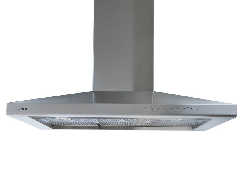 Contemporary style wall-mounted stainless steel cooker hood with integrated lighting ICBVW 30/36 S | Wall-mounted cooker hood by Sub-Zero