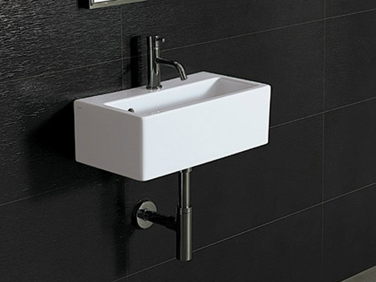 Rectangular wall-mounted handrinse basin ICE 50X27 by Alice Ceramica