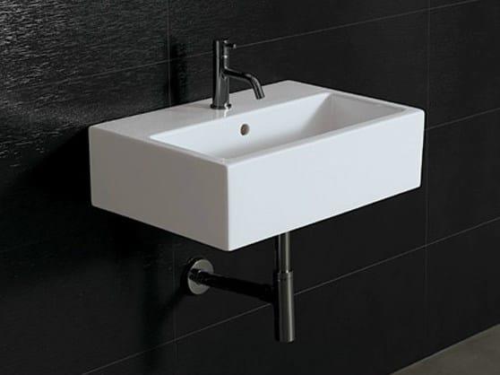 Rectangular ceramic washbasin ICE 60X40 by Alice Ceramica