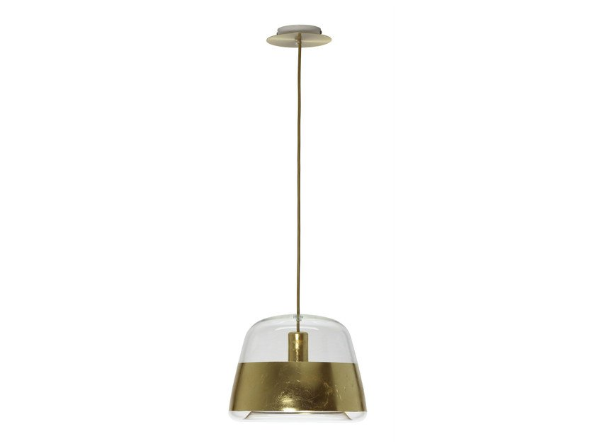 LED glass pendant lamp ICE CHIC GOLD by Hind Rabii