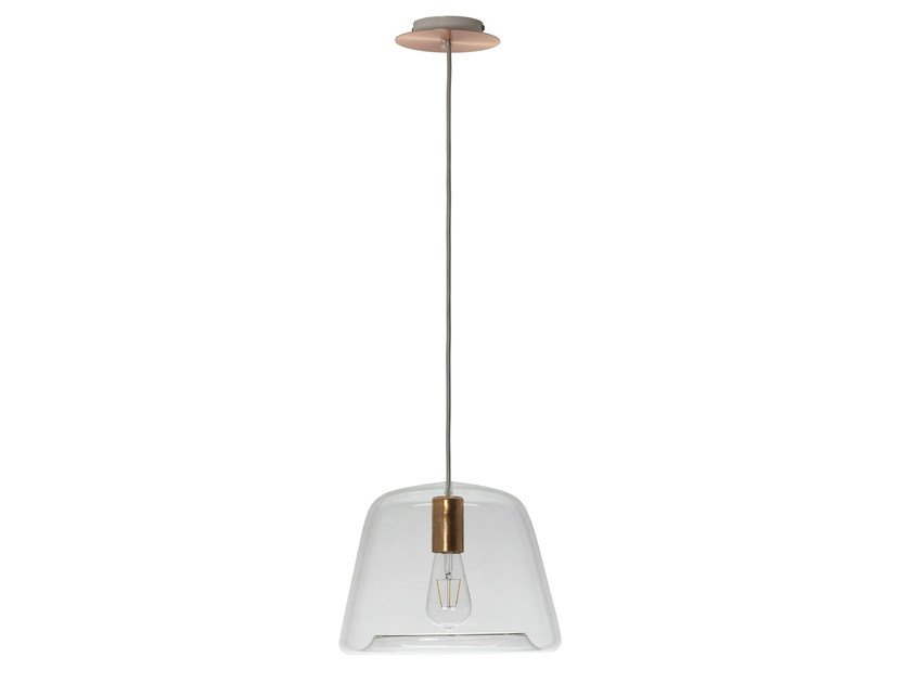 LED glass pendant lamp ICE CHIC by Hind Rabii