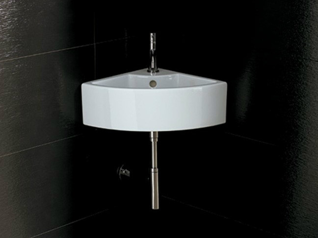 Corner ceramic washbasin ICE CORNER by Alice Ceramica