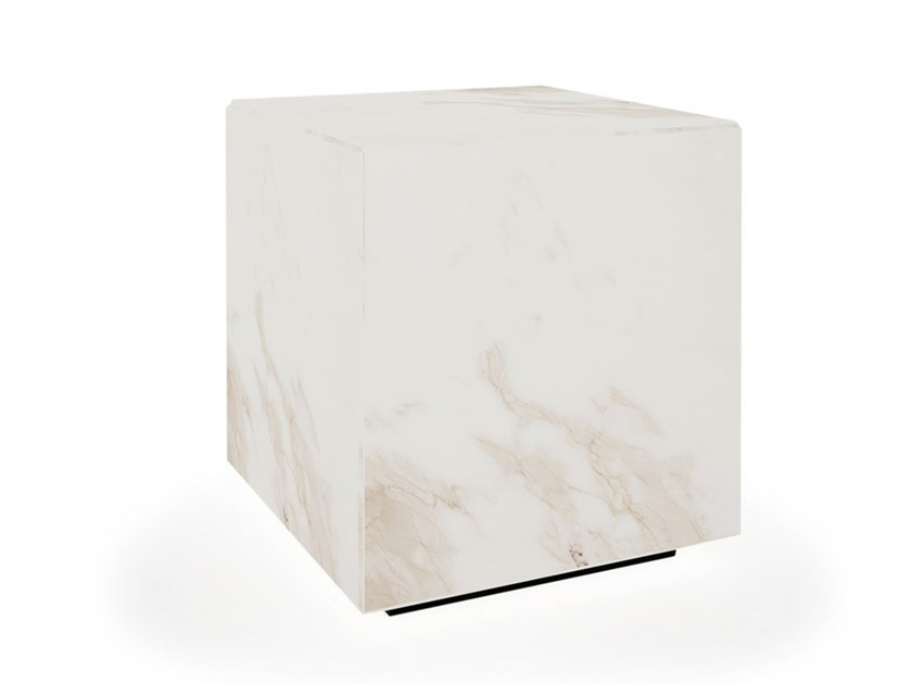 Square onyx coffee table with light ICE by EXENZA