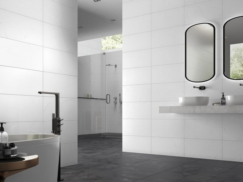 White-paste wall tiles ICE by RECER