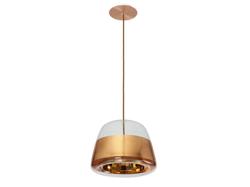 Glass pendant lamp ICE REFLECTOR COPPER by Hind Rabii