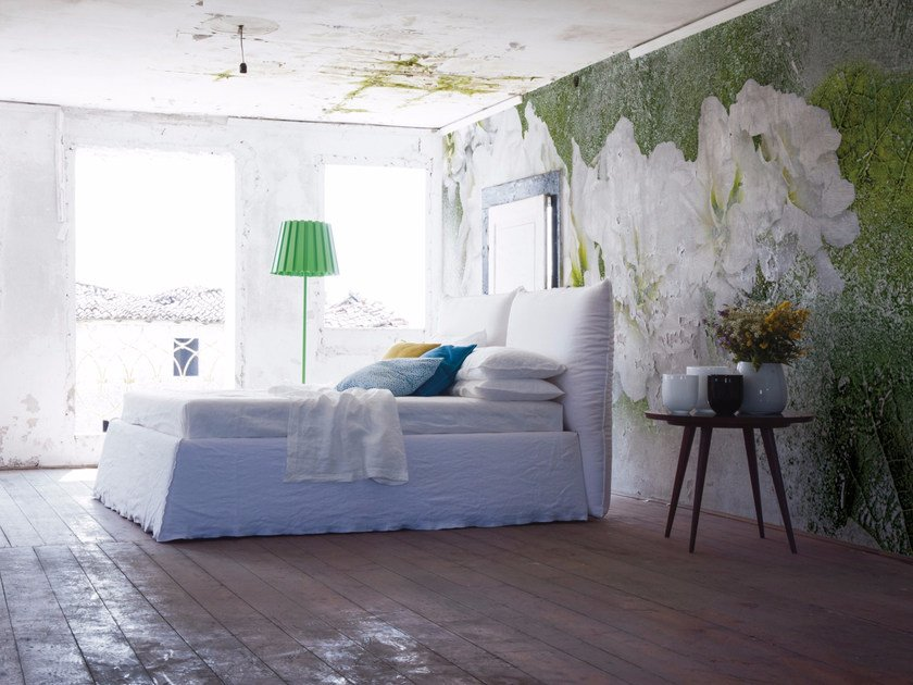 Panoramic wallpaper with floral pattern ICEFLOR by Inkiostro Bianco