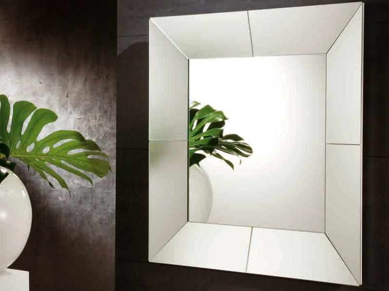 Framed mirror ICERBERG | Square mirror by RIFLESSI