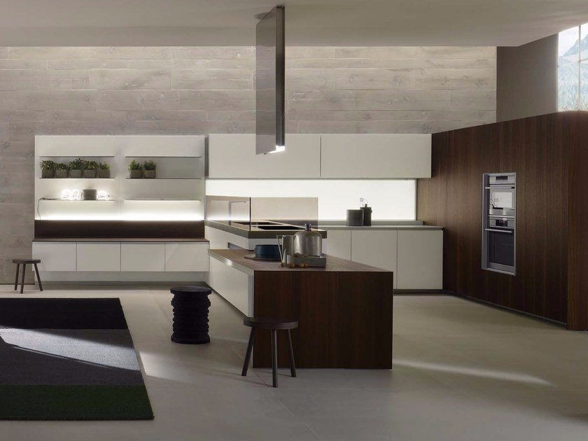 Corian® kitchen with peninsula ICON | Corian® kitchen by ERNESTOMEDA