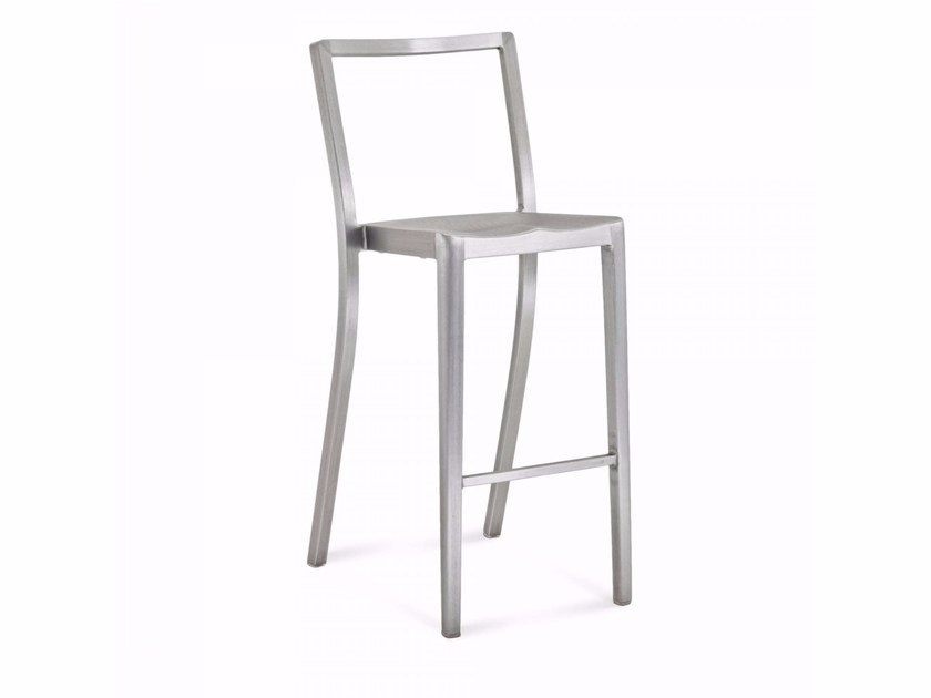 High stackable aluminium stool ICON | High stool by Emeco
