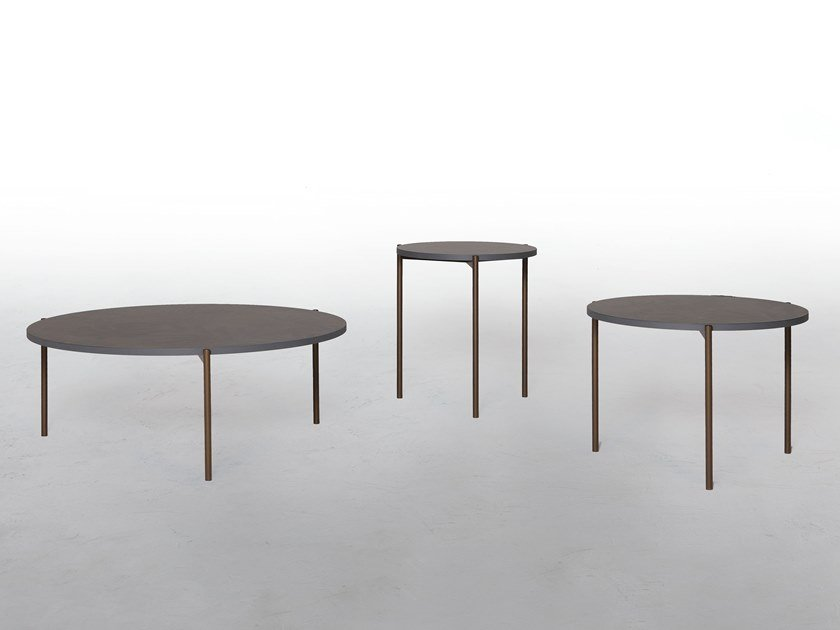 Low round coffee table ICON by Tonin Casa