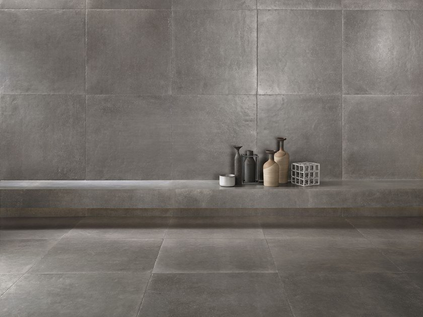 Porcelain stoneware wall/floor tiles with stone effect ICÔNE BLEU Gris by Italgraniti