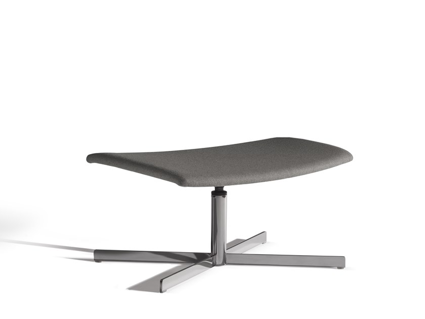 Fabric footstool with 4-spoke base ICS 508CRU by Capdell