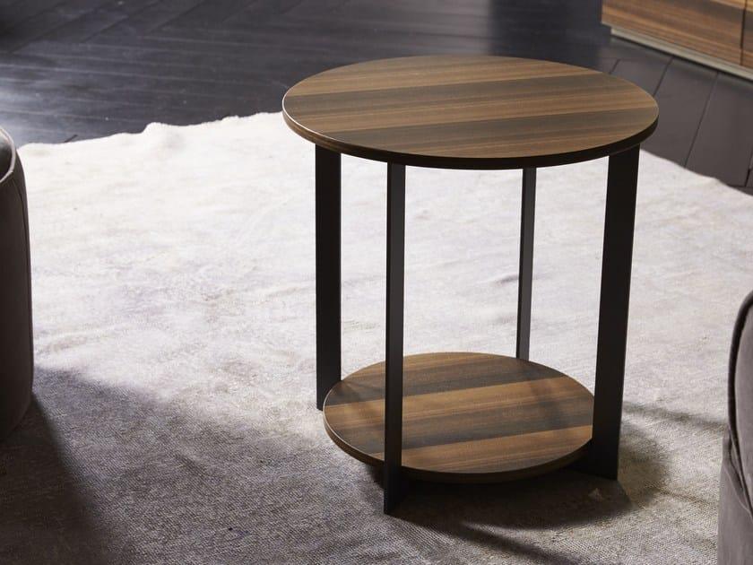 Mesa de centro redonda de madeira ICS | Mesa de centro by EmmeBi
