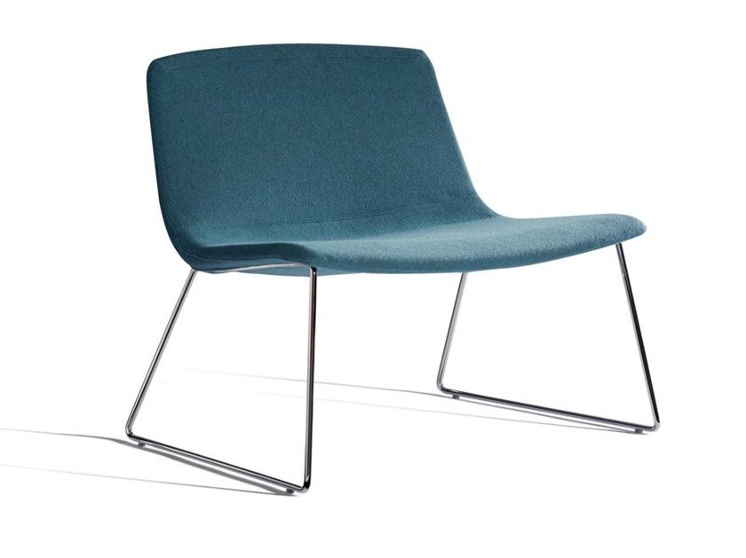 Sled base fabric easy chair ICS 507PTN by Capdell