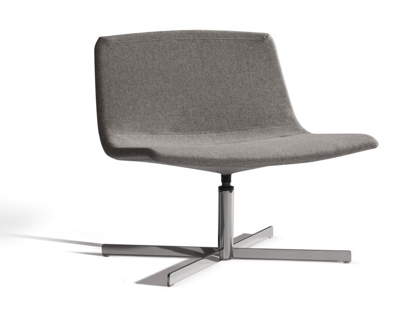 Fabric easy chair with 4-spoke base ICS 507CRU by Capdell
