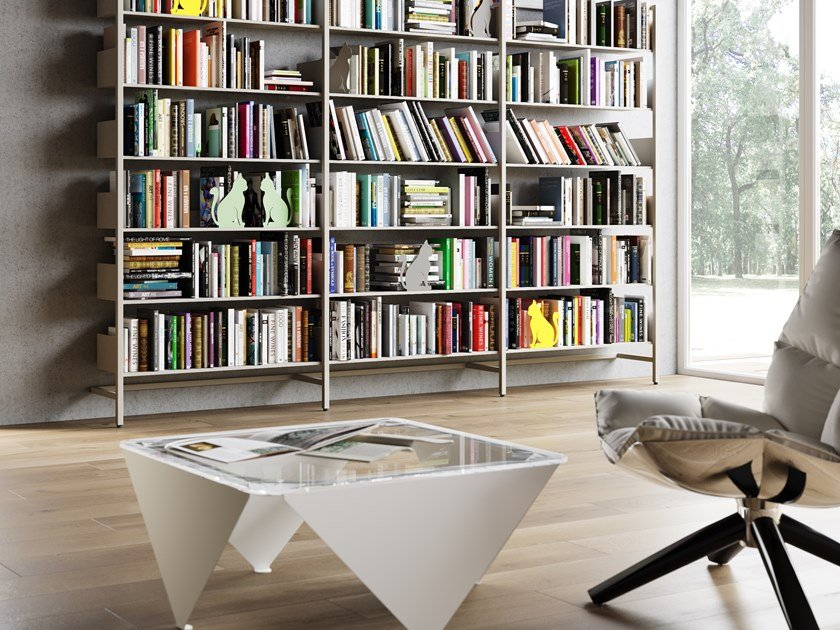 Low square coffee table ICS by Steelbox by Metalway