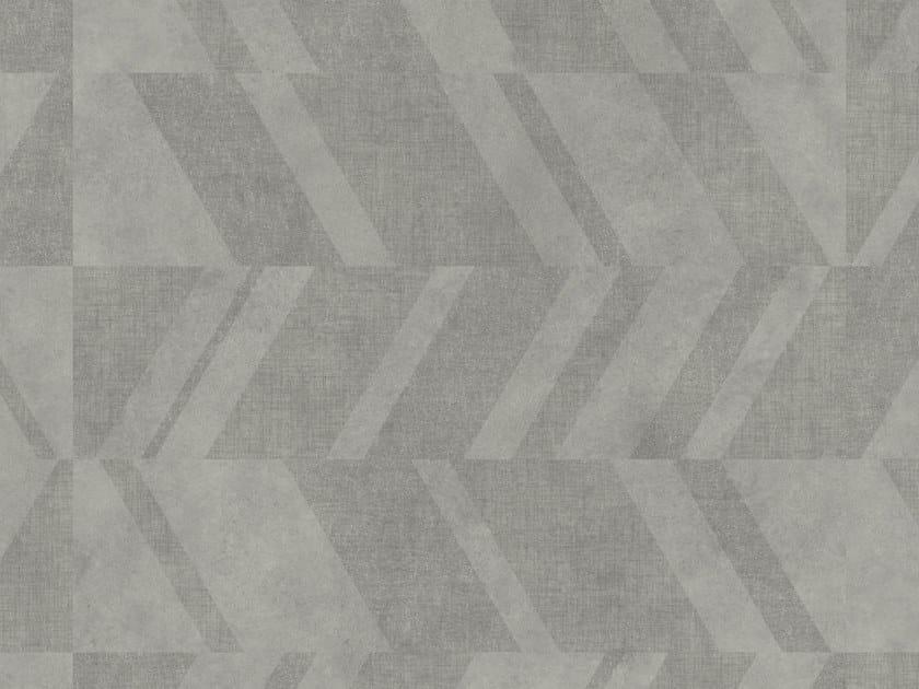 LVT flooring with concrete effect iD SQUARE CEMENT CHEVRON by TARKETT