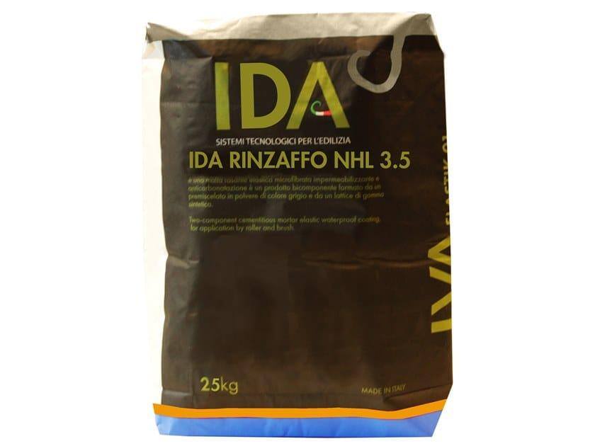 Renovating and de-humidifying additive and plaster IDA RINZAFFO NHL 3.5 by IDA