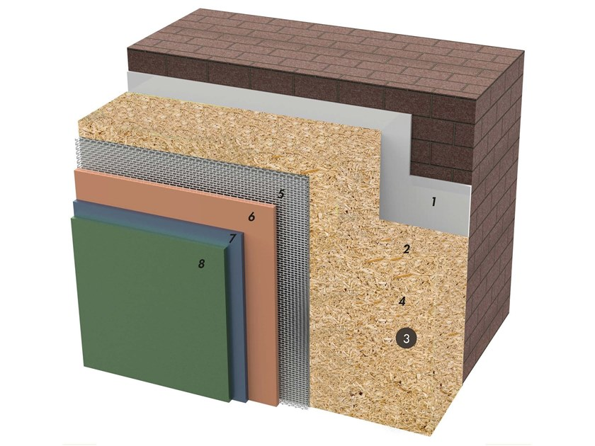Exterior insulation system IDATERM BIOWOOD by IDA