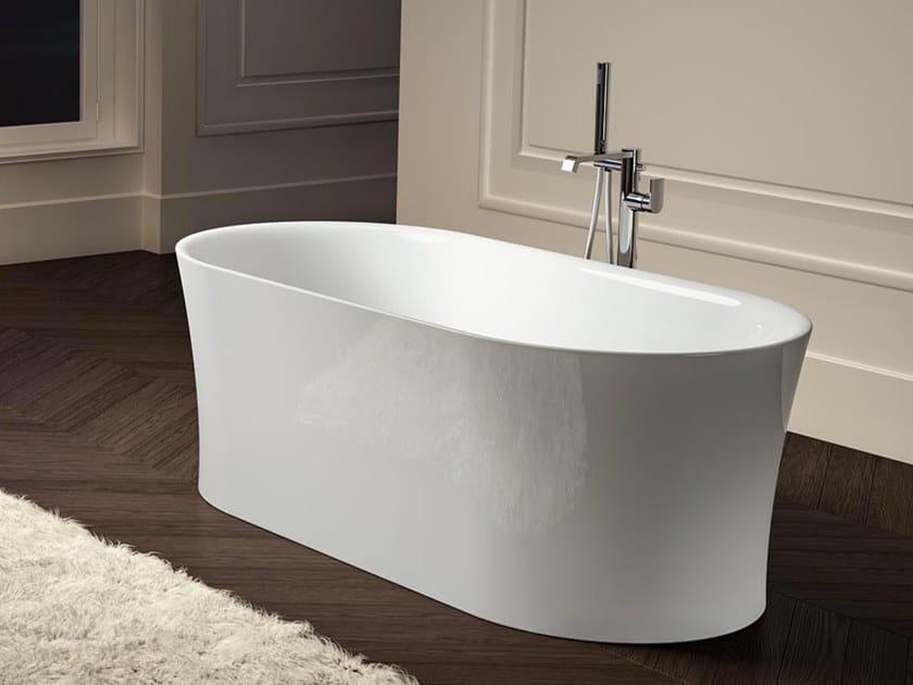 Vasca da bagno centro stanza ovale in acrilico IDEA F OVAL by Albatros