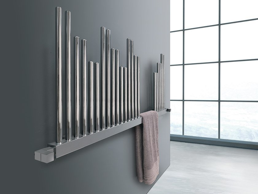 Swivel steel towel warmer IDEAS | Horizontal towel warmer by DELTACALOR