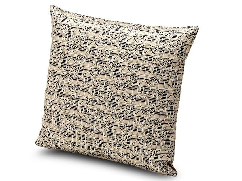 Satin cushion with digital print IDEOGRAMMA | Cushion by MissoniHome