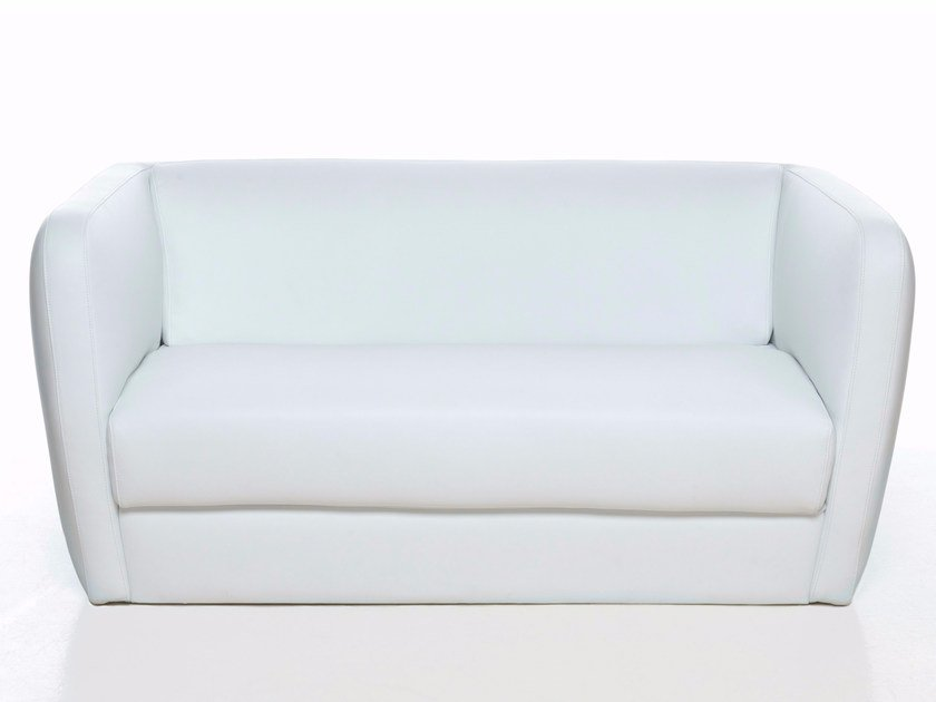 Leather small sofa IG 2 by Paolo Castelli