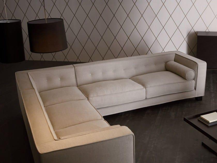 Corner sectional fabric sofa