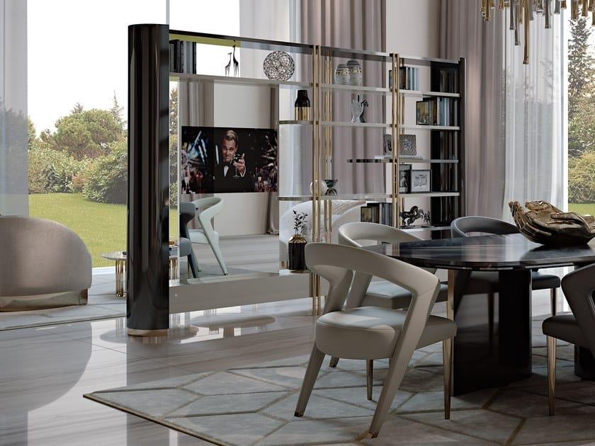 Libreria Bifacciale Con Porta Tv.Ikat Libreria Con Porta Tv Collezione Ikat By Bizzotto