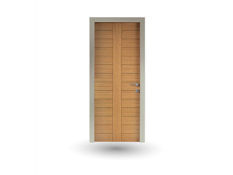 Hinged wooden door IKI 89G ROVERE MIELE by GD DORIGO