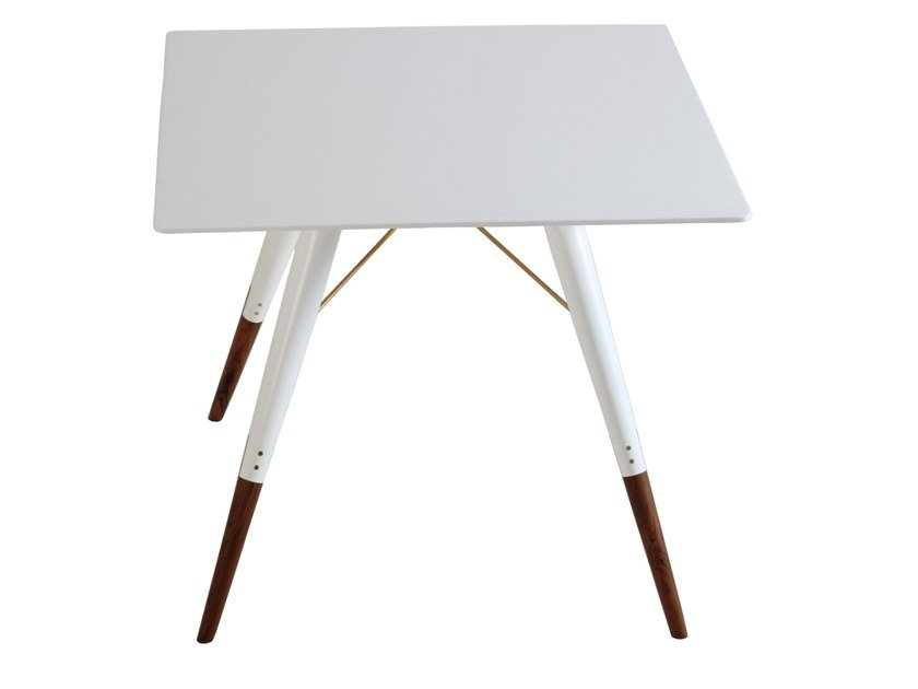 Square solid wood table IKI   Square table by ALANKARAM