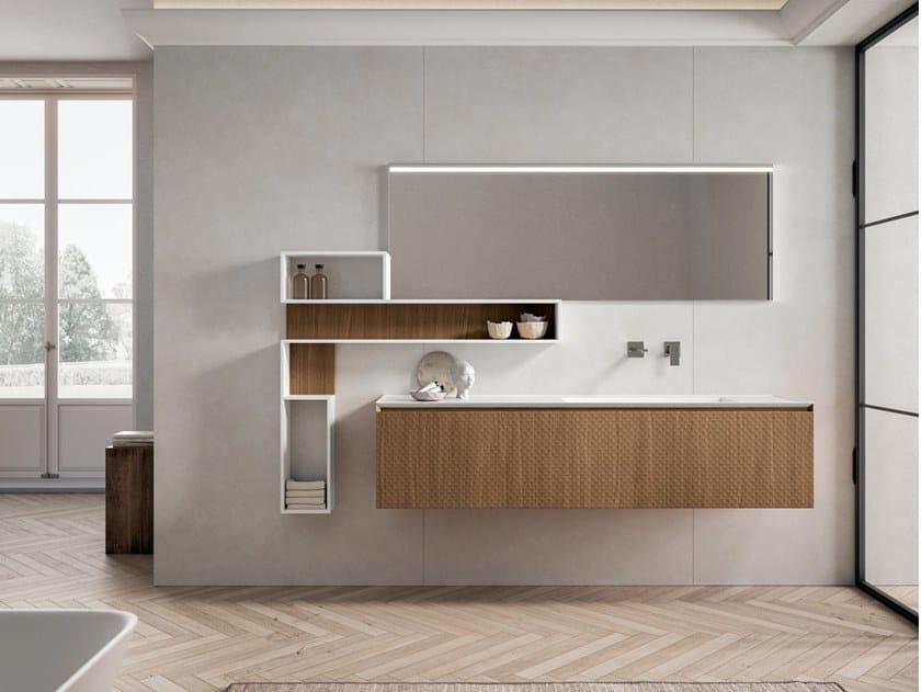 Mobile lavabo sospeso con cassetti IKON 04 by BMT