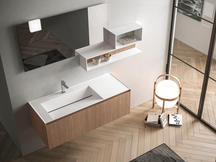 Mobile lavabo sospeso con cassetti IKON 05 by BMT