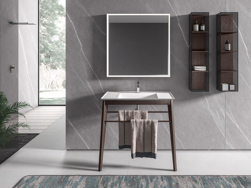 Mobile lavabo da terra con porta asciugamani IKON 09 by BMT