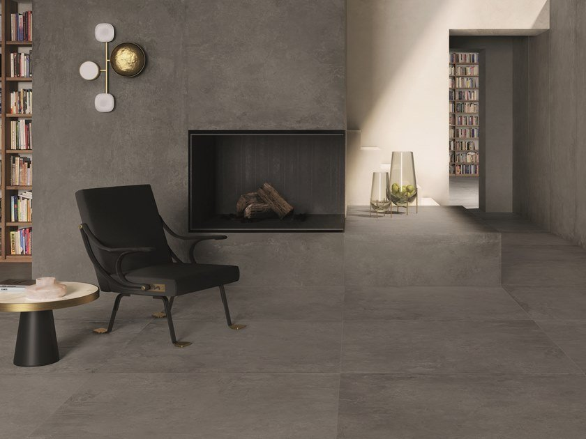 Porcelain stoneware wall/floor tiles with concrete effect IKON GREY by CERAMICHE KEOPE