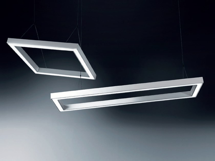 Lampada A Sospensione A Led In Alluminio Estruso Iku By Rossini
