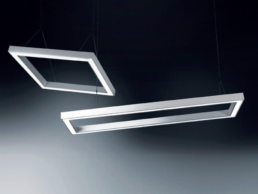 LED extruded aluminium pendant lamp IKU by Rossini Illuminazione